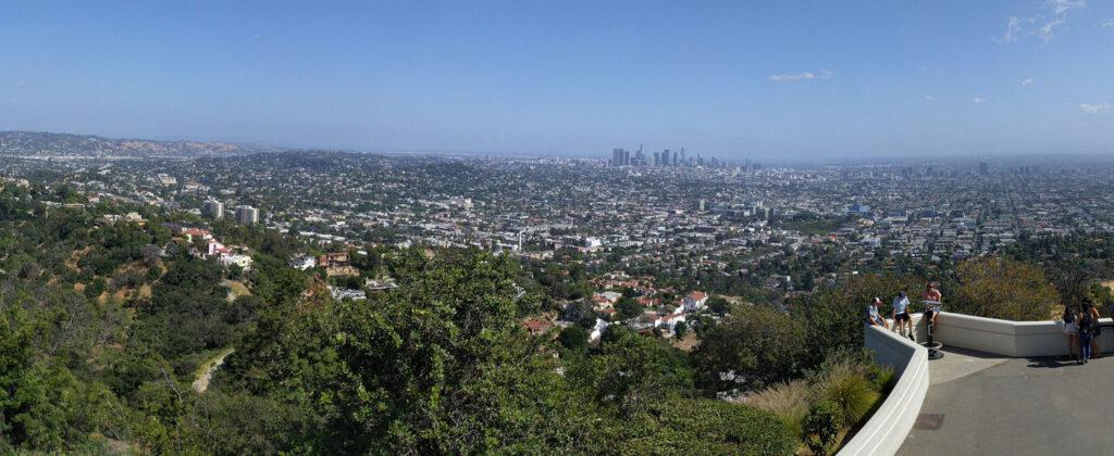 Utsikt från Griffith Observatory i Los Angeles, Kalifornien.