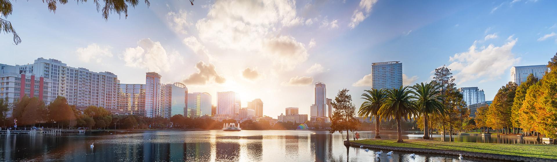 Lake Eola Park i Orlando, Florida.