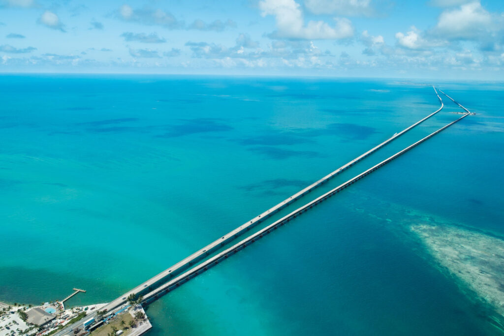 Seven Mile Bridge i Florida Keys.