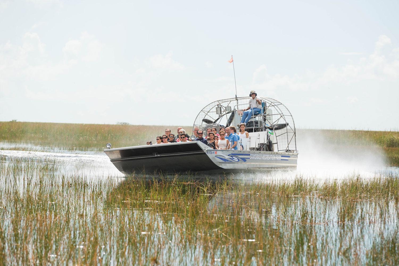 Airboat i Everglades.