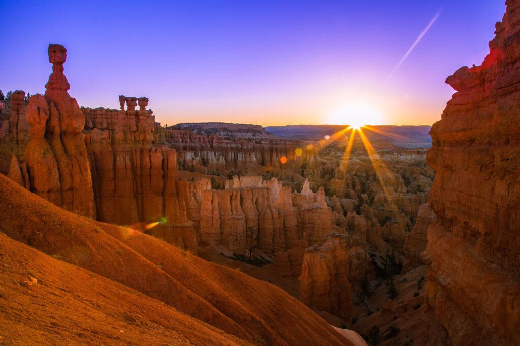 Solnedgång i Bryce Canyon, Utah.
