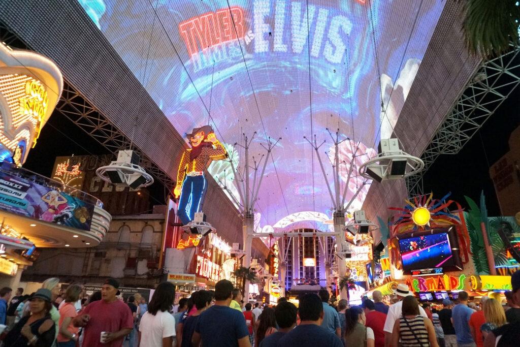 Downtown i Las Vegas.