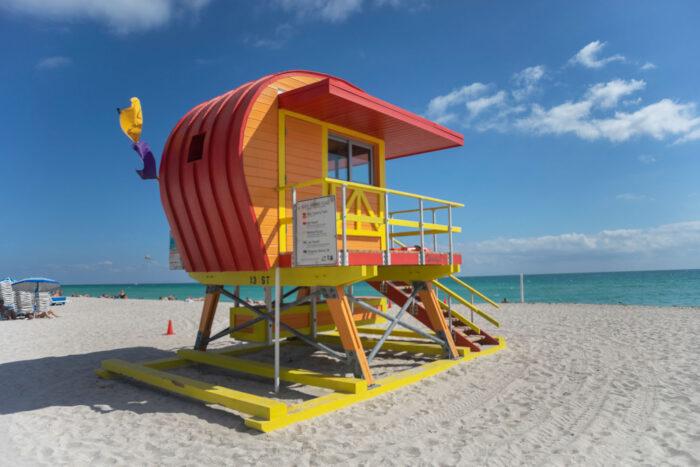 Livräddartorn på Miami Beach.