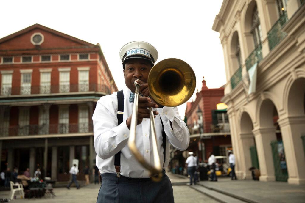 Trombonist i New Orleans.