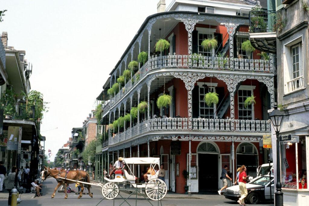 Franska kvarteren i New Orleans, Louisiana.
