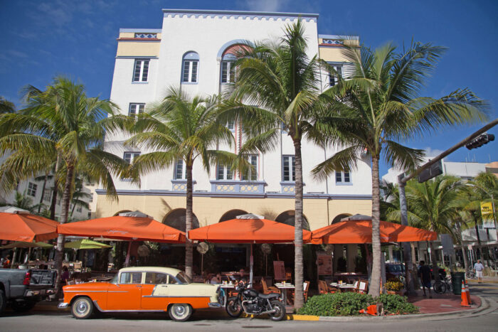 Ocean Drive i Miami Beach.