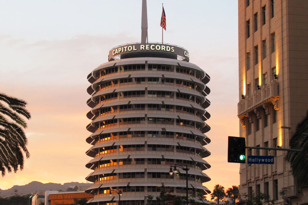 Capitol Records Tower i Los Angeles.