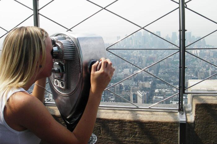 Utsikt från Empire State Building i New York.