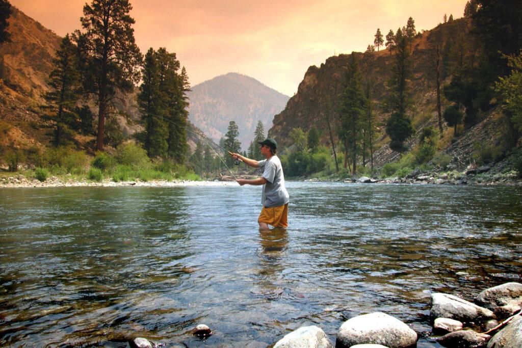 Fiskare i Idaho.