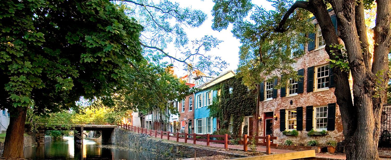 Stadsdelen Georgetown i Washington DC.