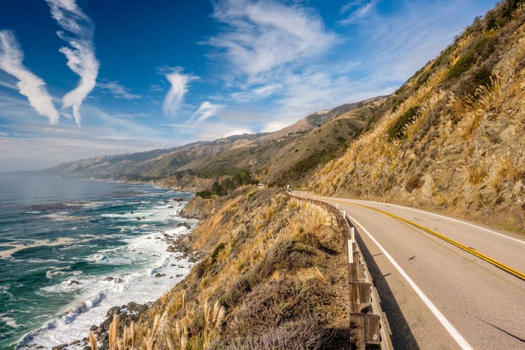 Highway 1 längs Kaliforniens kust.