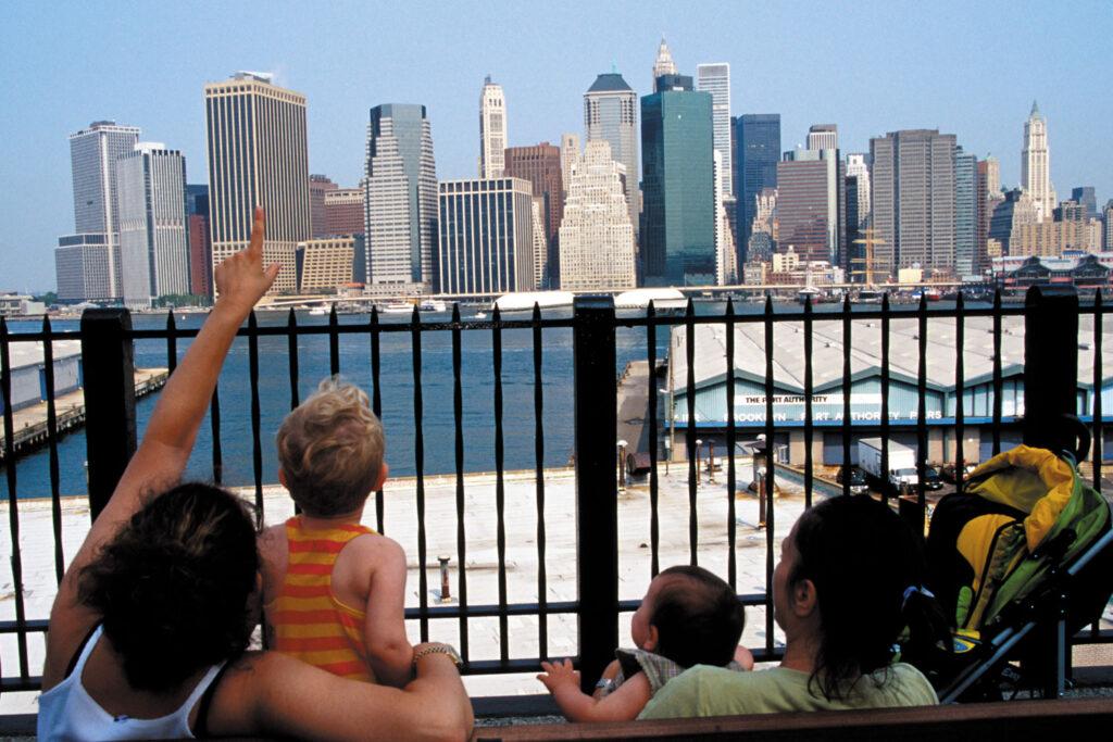 Nedre delen av Manhattans skyline.