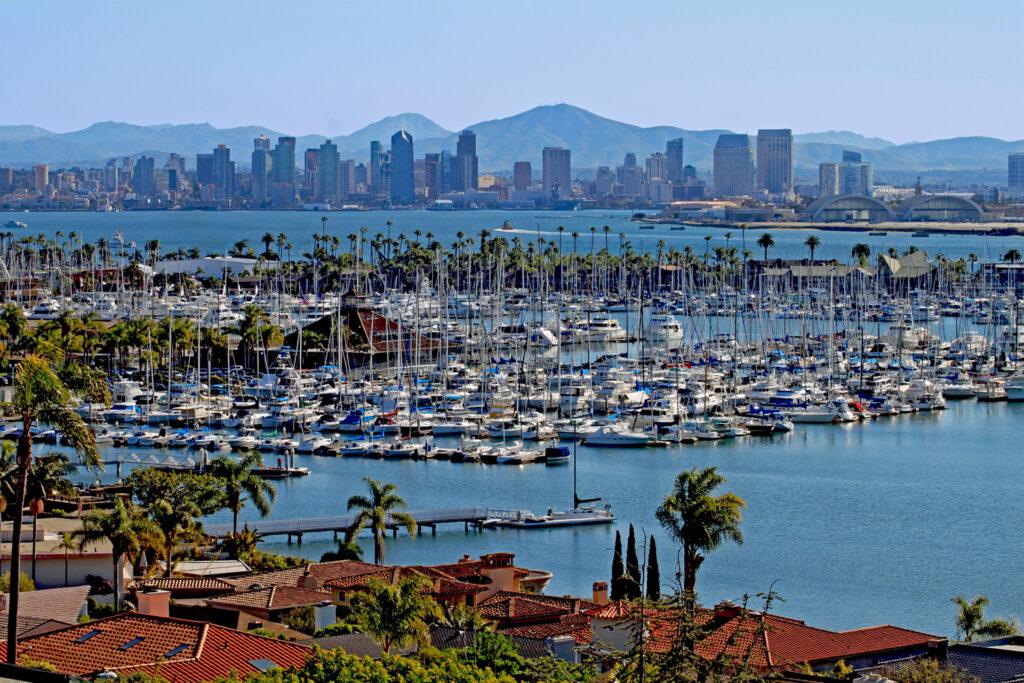 Skyline San Diego, Kalifornien.