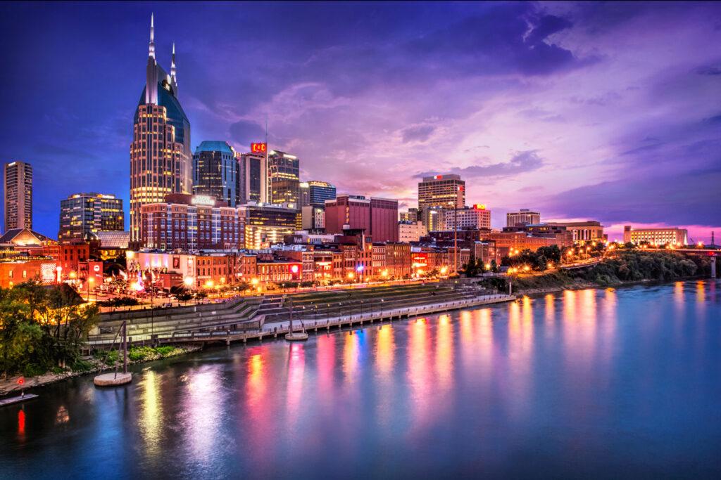 Skyline av Nashville.