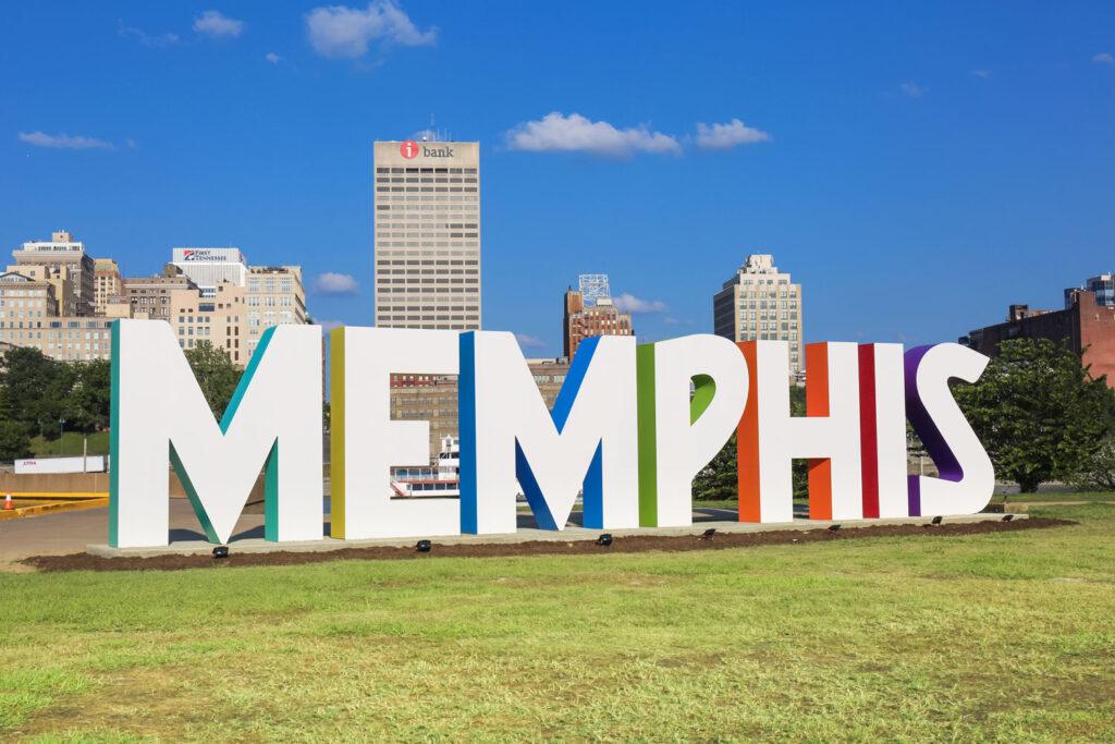 Skylt i Memphis.