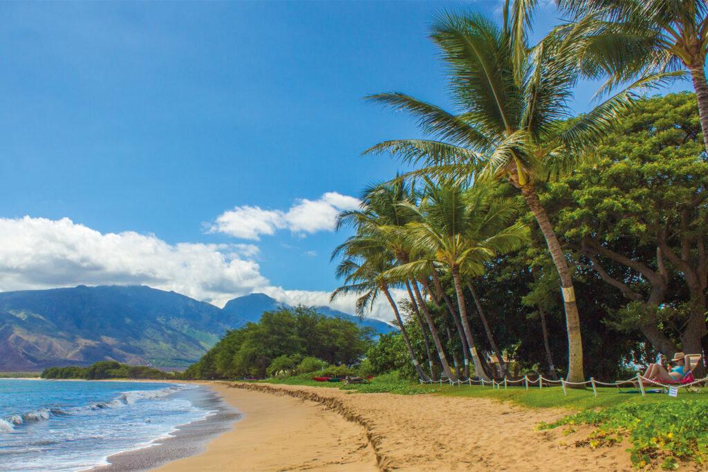 Strand på Maui.
