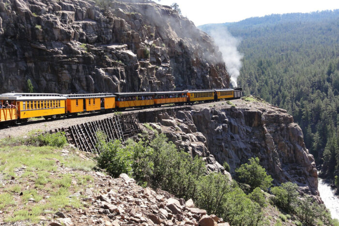 Tåglinje mellan Durango och Silverton.