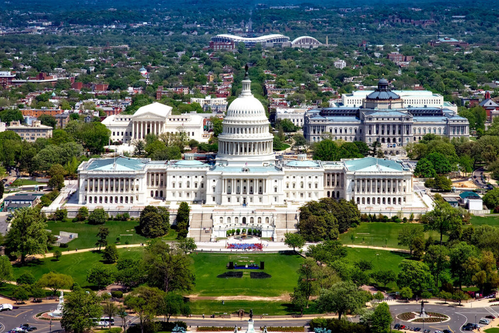 United States Capitol, USA:s parlamentsbyggnad i Washington DC.