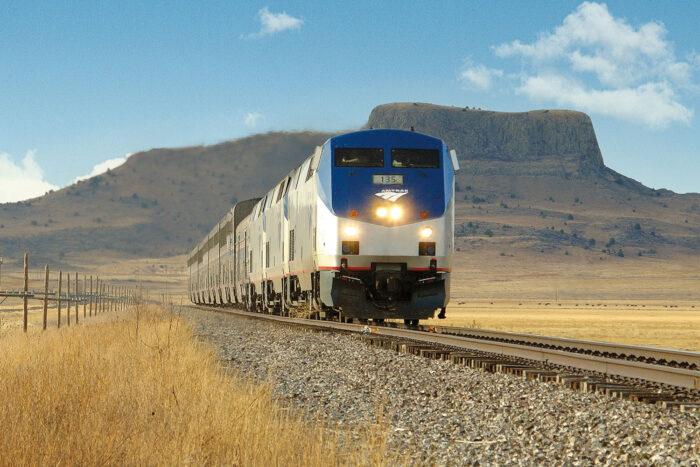 Amtrak tåg i USA.