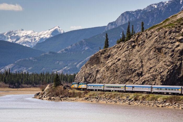 Athabasca River, Alberta, Kanada.