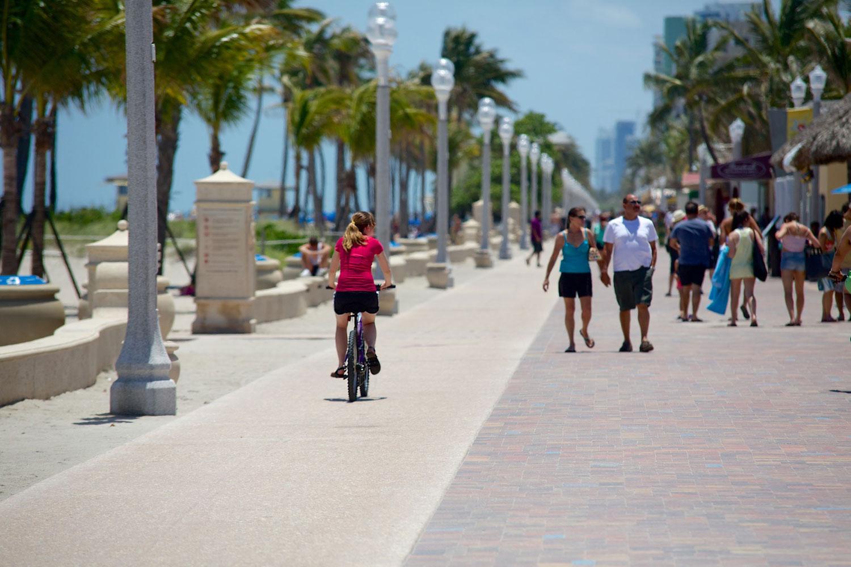 Strandpromenad i Fort Lauderdale, Florida.