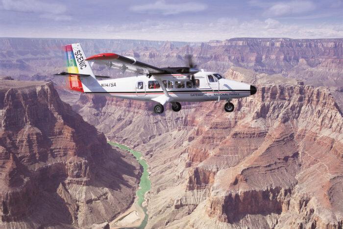 Flygtur över Grand Canyon.