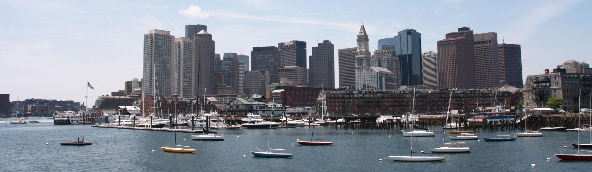 Hamnen i Boston.