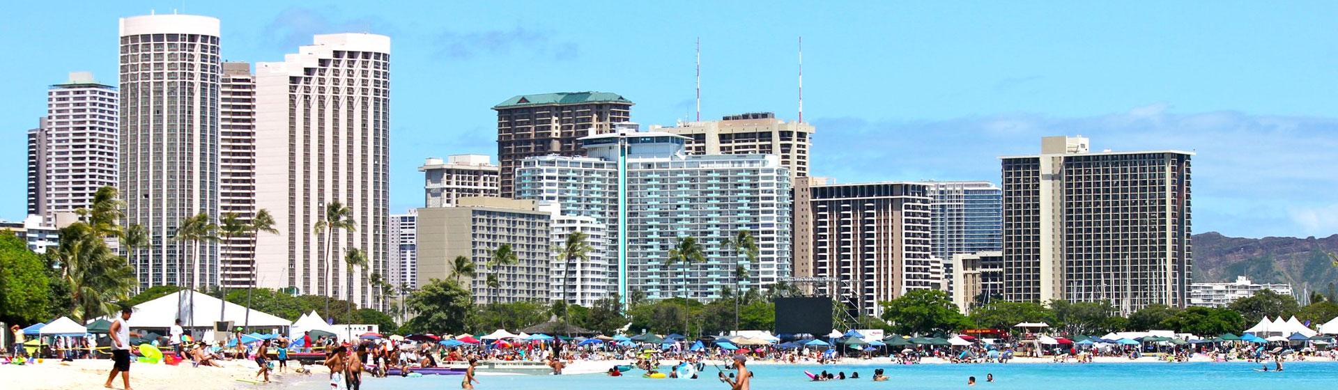 Hotell i Waikiki Beach.