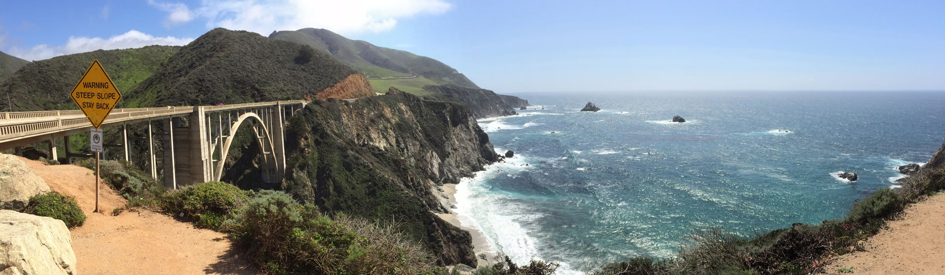 Bixby Bridge vid Kaliforniens kust.