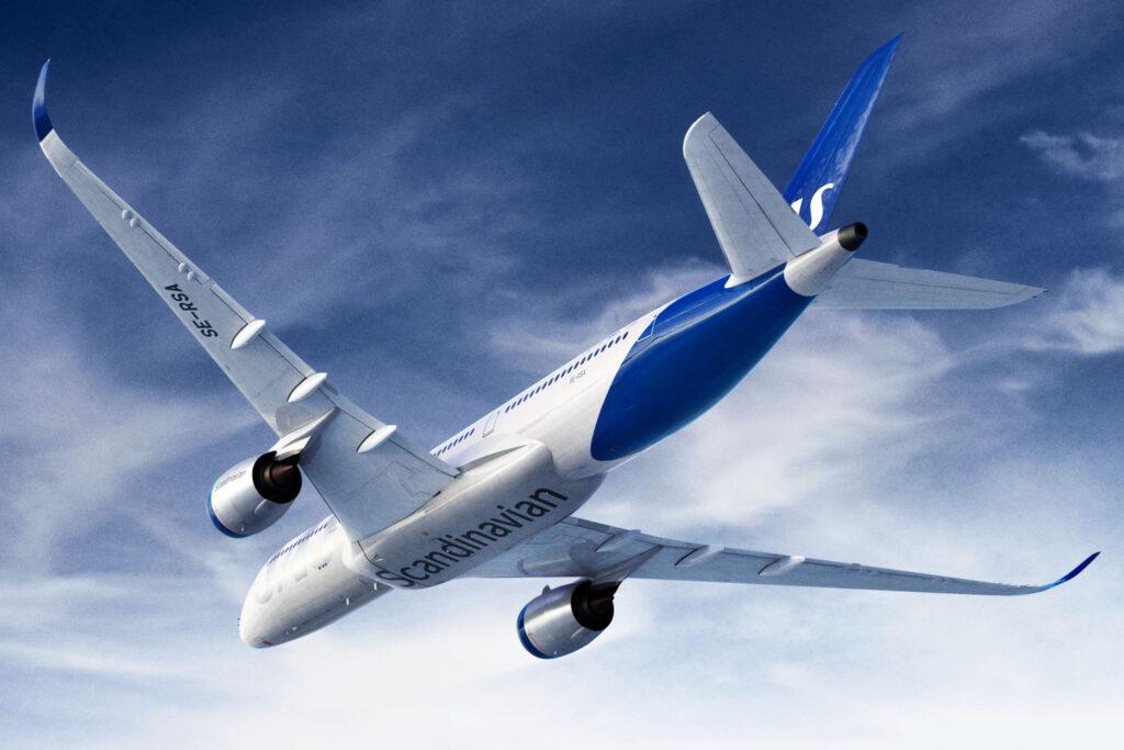 SAS flygplan.