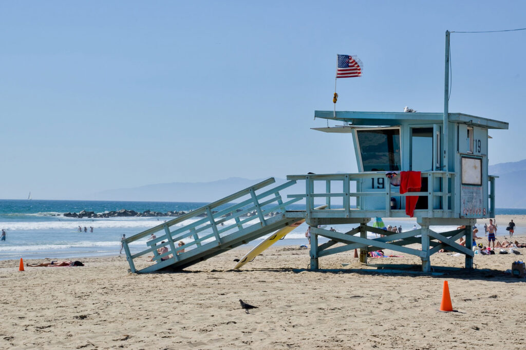 Stranden i Venice Beach, Los Angeles.