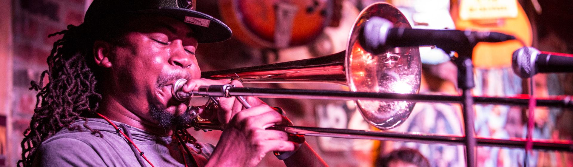 Musiker på Beale Street, Memphis.