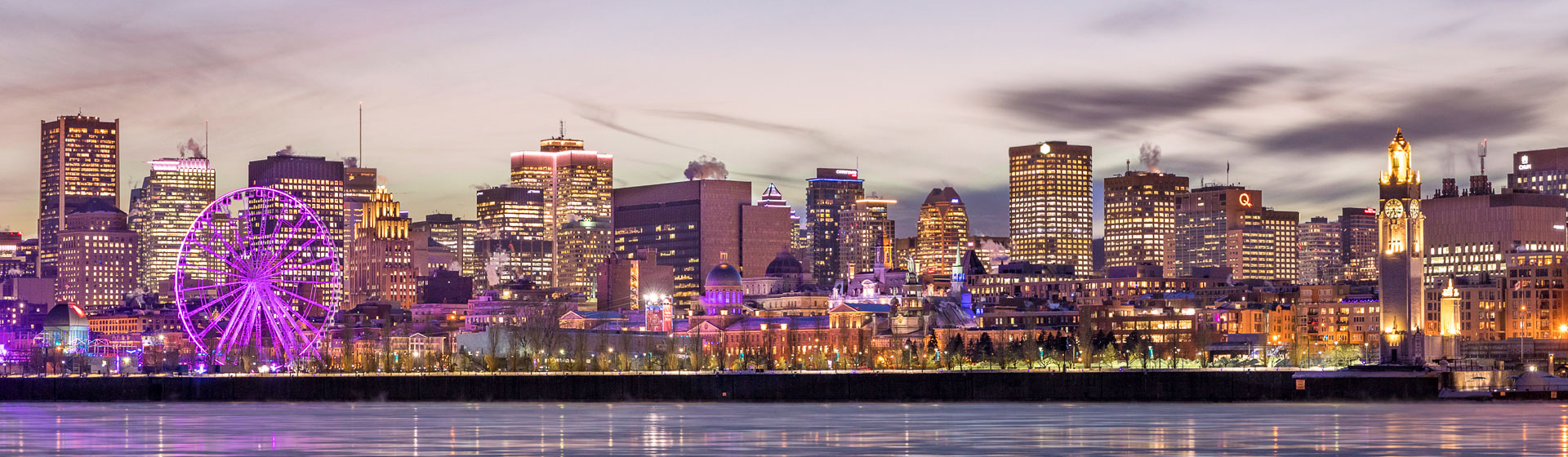 Skyline Montreal i Kanada.
