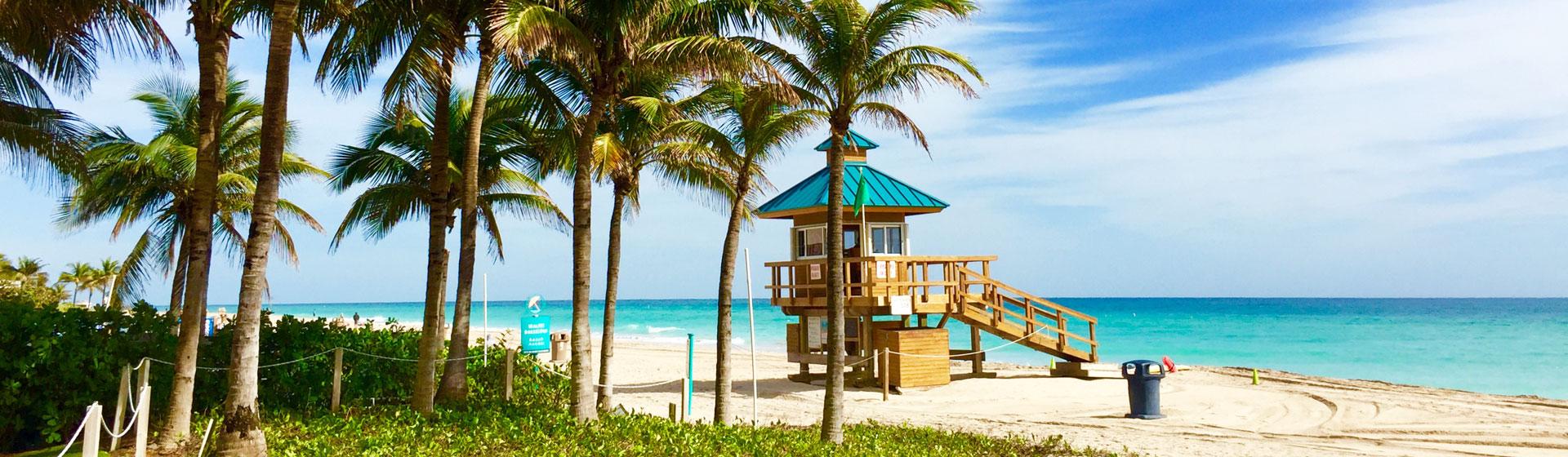 Strandbild i Miami.