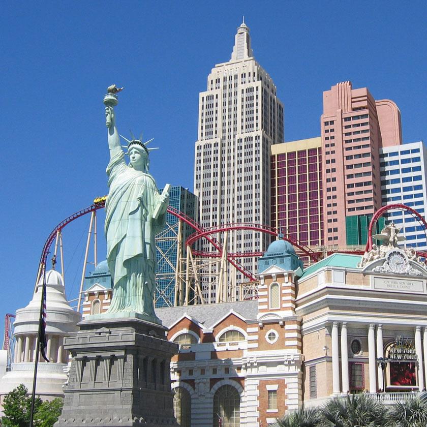 Hotell i Las Vegas.