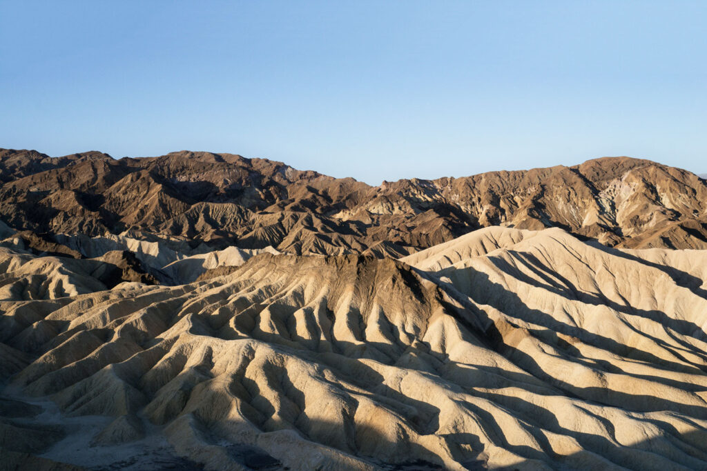 Zabriskie Point i Death Valley, Kalifornien.