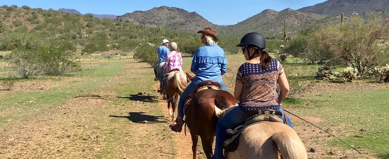 Ridtur på Trailhead Ranch, Arizona.