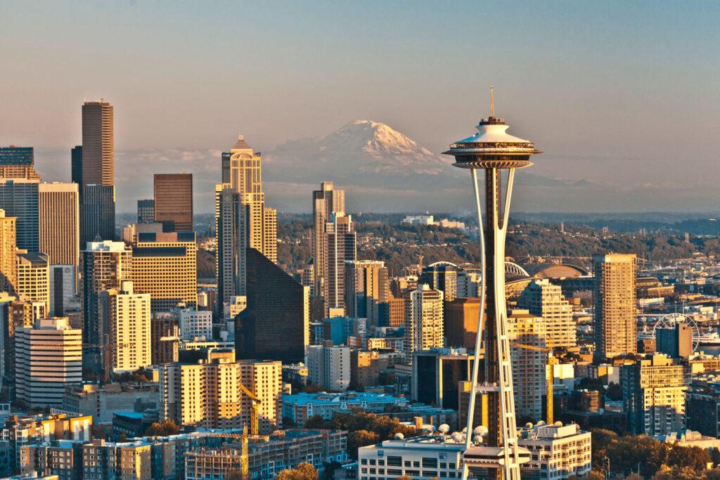 Space Needle i Seattle, Washington.