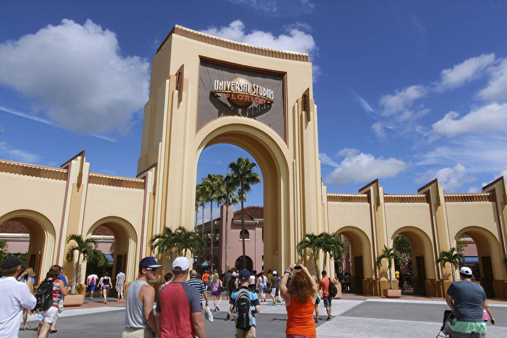 Entré Universal Studios i Orlando.
