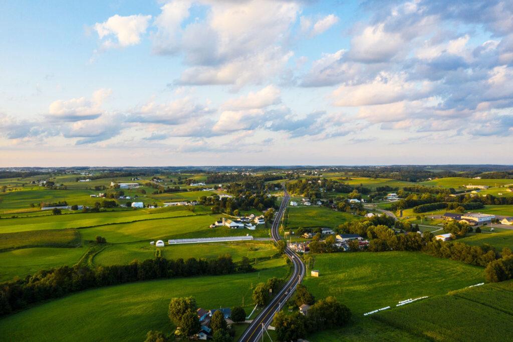 Landsbygd i Ohio.