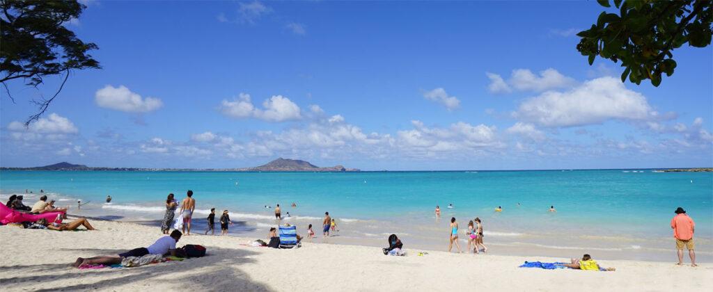 Kailua Beach Park på Oahu, Hawaii.