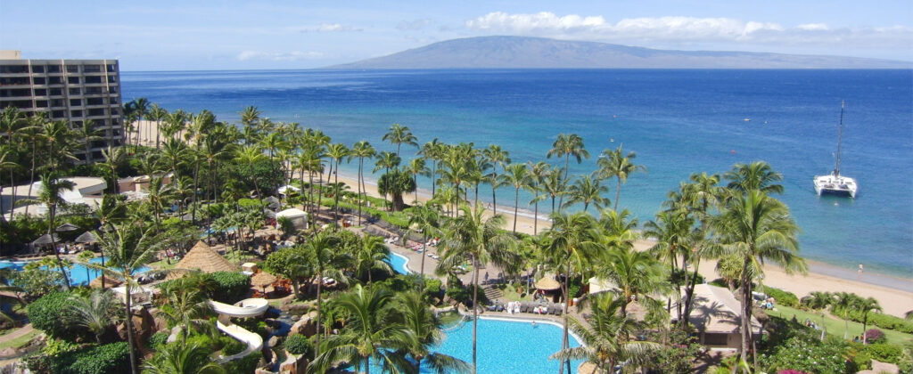 Kaanapali Beach på Maui, Hawaii.