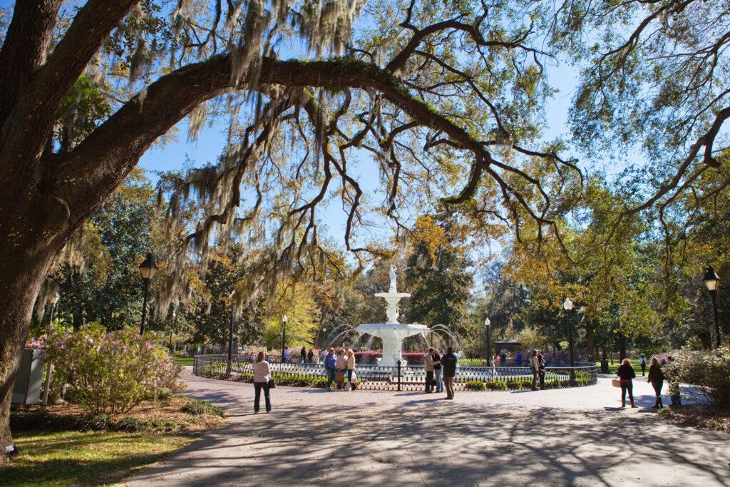 Forsyth Fountain i Savannah, Georgia.