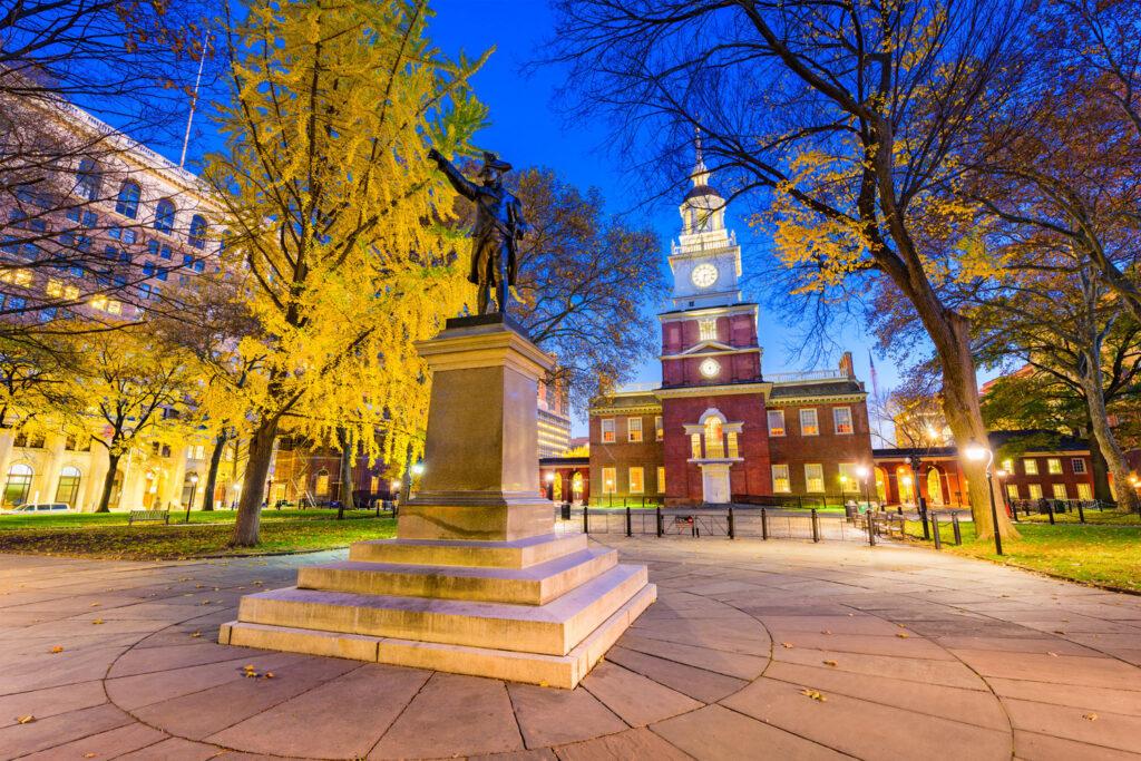 Independence Hall i Philadelphia.
