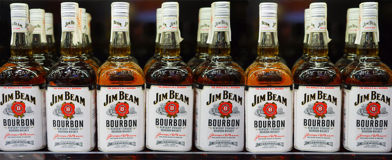 Jim Beam bourbon från Kentucky.