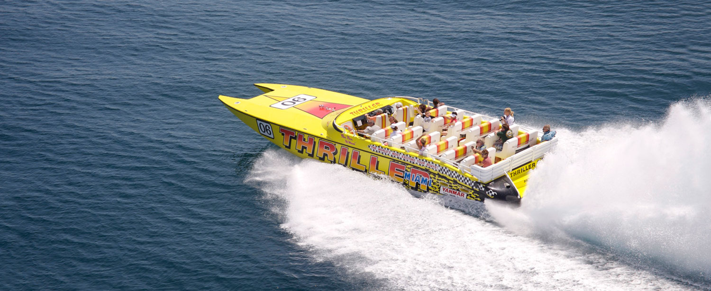 Thriller speedboat i Miami, Florida.