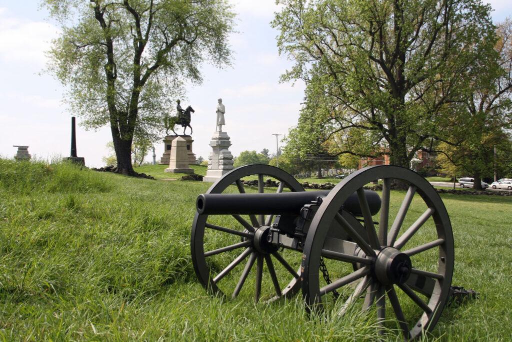 Kanon i Gettysburg National Military Park, Pennsylvania.