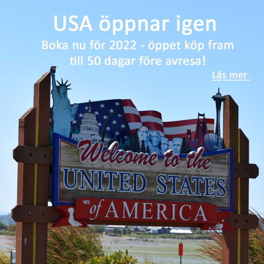 USA öppnar igen.